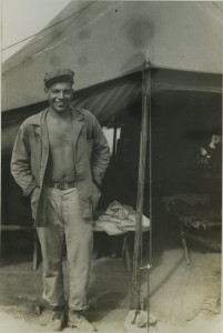 Godchaux in Okinawa at age 21, 1945.